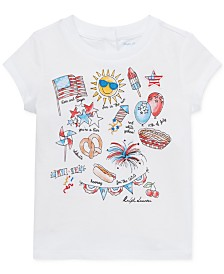 Polo Ralph Lauren Baby Girls Graphic Cotton T-Shirt