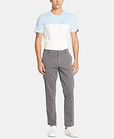 Men's Bedford Slim-Straight Fit Performance Stretch Sateen Pants