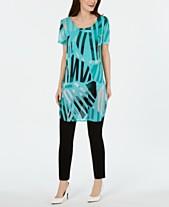 2d79c9b07c4 Alfani Printed Short-Sleeve Tunic Top, Created for Macy's