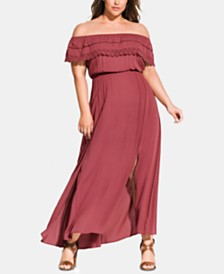 City Chic Trendy Plus Size Tropicana Maxi Dress