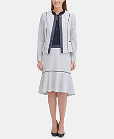Tommy Hilfiger Zippered Jacket & High-Low Skirt, Created for Macy's