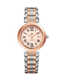 Alexander Watch AD203B-04, Ladies Quartz Date Watch with Rose Gold Tone Stainless Steel Case on Rose Gold Tone Stainless Steel Bracelet