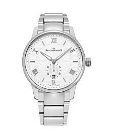 Alexander Watch A102B-01, Stainless Steel Case on Stainless Steel Bracelet