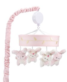 Lambs & Ivy Confetti Bunny Musical Baby Crib Mobile