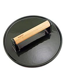 Green Cast Iron Steak Press