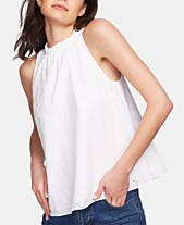 a08197f20cb 1.STATE Eyelet Cotton Halter Top