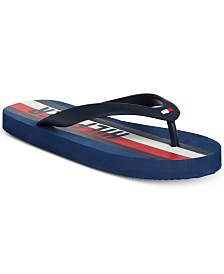 Tommy Hilfiger Little & Big Boys Graphic Stripe Flip-Flop Sandals