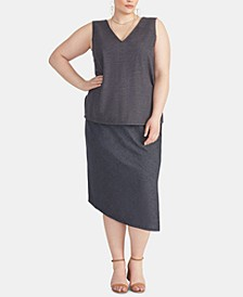 Plus Size Emmy Asymmetrical Skirt