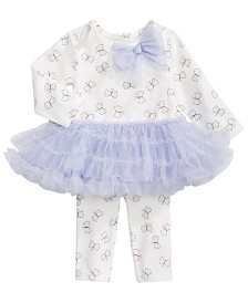 First Impressions Baby Girls Butterfly Tulle Dress Set, Created for Macy's
