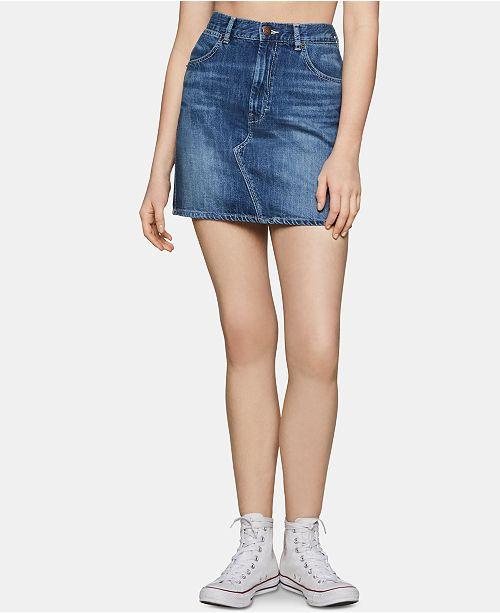 BCBGeneration Cotton Denim Skirt
