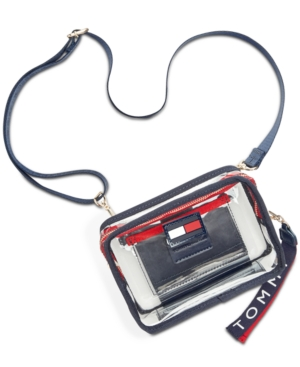 e4c9575b Tommy Hilfiger Kala Clear Convertible Belt Bag In Clear/Gold ...