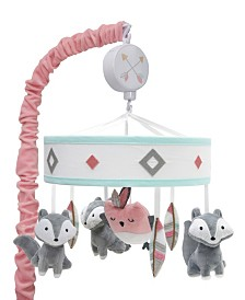 Lambs & Ivy Little Spirit Southwest Fox and Owl Musical Baby Crib Mobile