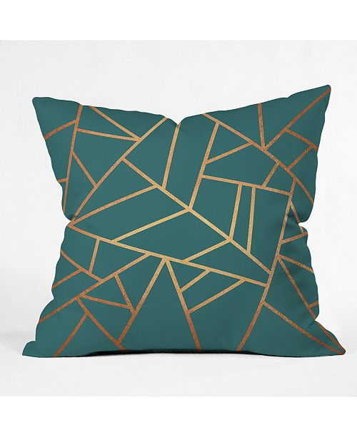 Deny Designs Elisabeth Fredriksson Copper And Teal Throw Pillow