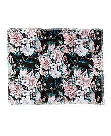 Marta Barragan Camarasa Dark Wild Pink Bloom Woven Throw