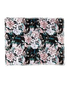 Marta Barragan Camarasa Dark Wild Pink Bloom Woven Throw