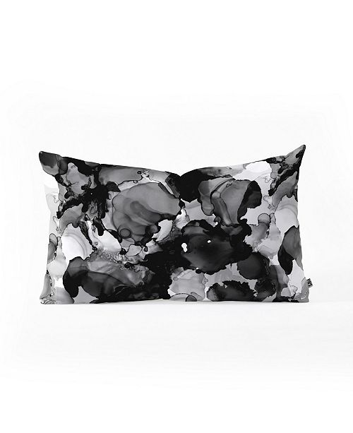 Deny Designs Cayenablanca Black And White Dreams Oblong Throw Pillow