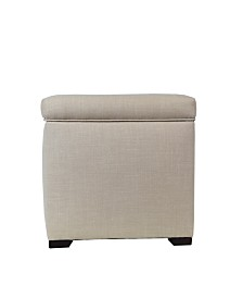 MJL Furniture Designs Tami Button Tufted Upholstered Storage Ottoman