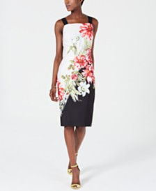 Adrianna Papell Floral Bodycon Dress