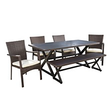 Tritan Outdoor 6pc Dining Set, Quick Ship