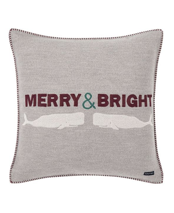 Nautica Merry And Bright  Square Pillow