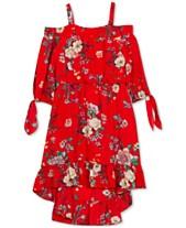 00ef019be925d Rare Editions Toddler Girls Floral-Print Off-the-Shoulder Dress