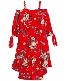 Rare Editions Toddler Girls Floral-Print Off-the-Shoulder Dress