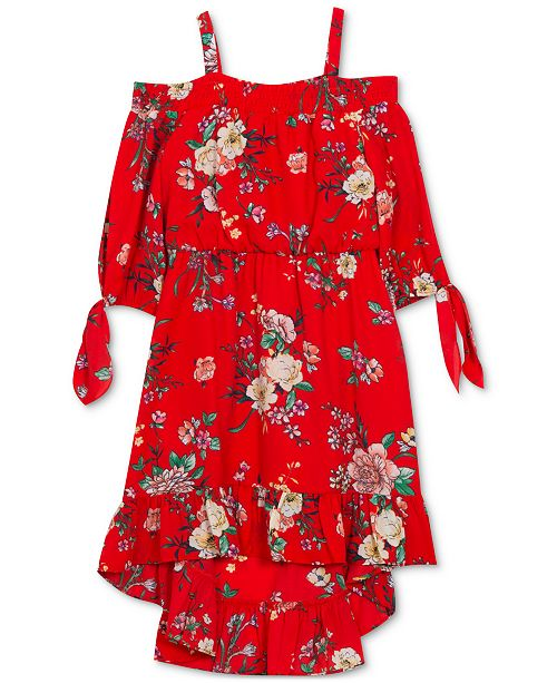 Rare Editions Toddler Girls Floral-Print Off-the-Shoulder Dress