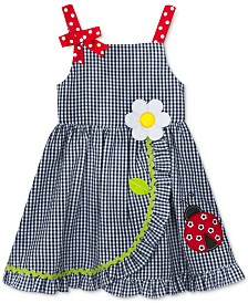 Rare Editions Toddler Girls Ladybug Wrap-Front Dress