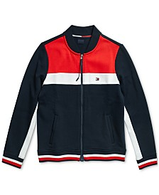 Tommy Hilfiger Adaptive Women's Marin Pieced Bomber  Jacket with Magnetic Closure