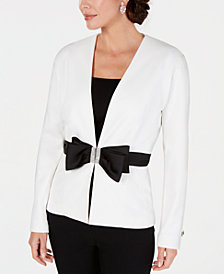 28th & Park Embellished Bow Jacket, Created for Macy's
