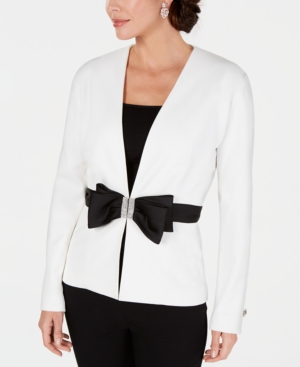 Image of 28th & Park Embellished Bow Jacket, Created for Macy's