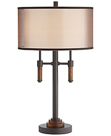 Pacific Coast Modern Lodge Table Lamp with Two Lights