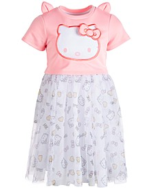 Little Girls Organza Popover Dress, Created for Macy's