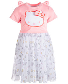 Hello Kitty Little Girls Organza Popover Dress, Created for Macy's