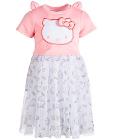 Hello Kitty Toddler Girls Organza Popover Dress, Created for Macy's