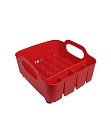 Tub Dish Rack, Red