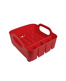 Umbra Tub Dish Rack, Red