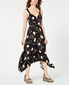 Juniors' Printed Asymmetrical-Hem Dress, Created for Macy's