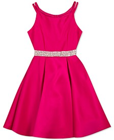 Big Girls Plus Satin Skater Dress