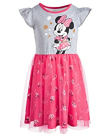 Disney Little Girls Minnie Mouse Graphic Tutu Dress, Created for Macy's