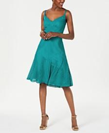 Tadashi Shoji Ribbed A-Line Dress