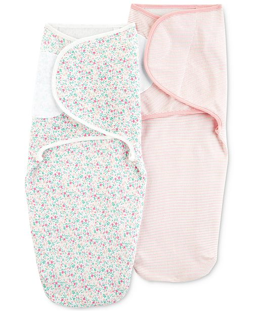 Carter's Baby Girls 2-Pk. Cotton Swaddle Blankets