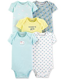 Carter's Baby Girls 5-Pk. Daddy's Girl Cotton Bodysuits