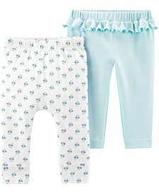 Baby Girls 2-Pk. Cotton Pants