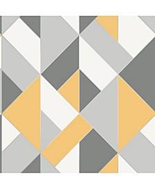 """Delano Structure Geo Wallpaper - 396"""" x 20.5"""" x 0.025"""""""