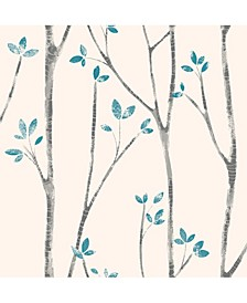 "Ingrid Scandi Tree Wallpaper - 396"" x 20.5"" x 0.025"""
