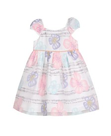 Laura Ashley Toddler and Little Girl's Puff Sleeve Party Dress