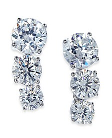 Cubic Zirconia Graduated Drop Earrings, Created for Macy's