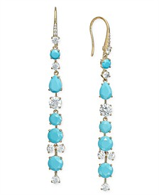 Stone & Crystal Linear Drop Earrings, Created for Macy's