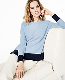 Ribbed Colorblocked Cashmere Sweater, Created for Macy's